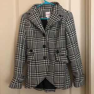 Candies Checkered Black/White Coat (Xs)